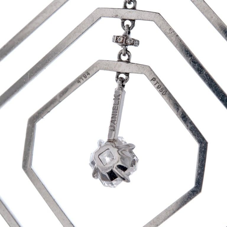 Daniel K Fine Diamond Geometrically Stylized Platinum Necklace 4