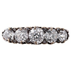 """Victorian Antique """"English Carved"""" Style Diamond Ring"""