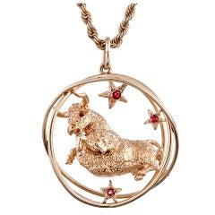 WILLIAM RUSER Stylized Taurus Pendant