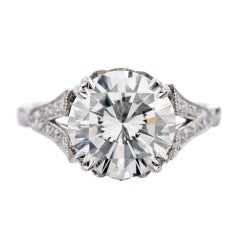 3.01 Carat Diamond Platinum Engagement Ring