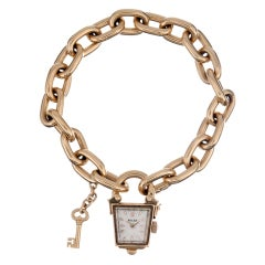ROLEX Lady's Stylized 1950s Clock 'Lock & Key' Watch