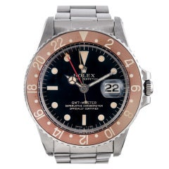 Rolex Stainless Steel Gilt-Dial GMT-Master Wristwatch Ref 1675