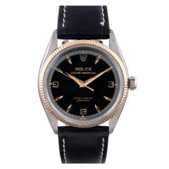 Rolex Steel and Gold Oyster Perpetual with Black