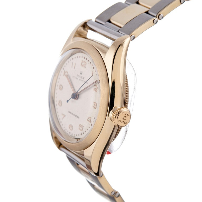 rolex charming yellow gold bubbleback with original