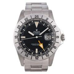 "Rolex Steel First Edition Explorer II Watch with ""Straight Hand"""