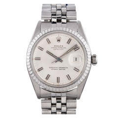 Rolex Stainless Steel Datejust Wristwatch with Cigarette Markers