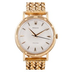 Rolex Yellow Gold Oversized Precision Watch with Custom Bracelet