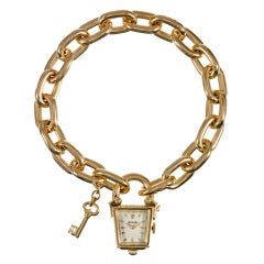 Rolex Lady's Yellow Gold Stylized Clock 'Lock & Key' Watch