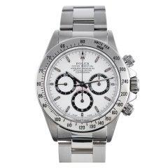 Rolex Stainless Steel Zenith Daytona Chronograph Wristwatch