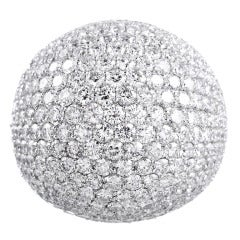 Dazzling Domed Diamond Disco Ball Cocktail Ring