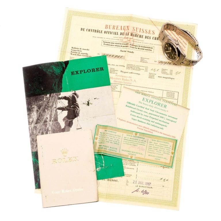 Rolex Stainless Steel Explorer Wristwatch Ref 1016 circa 1967 1