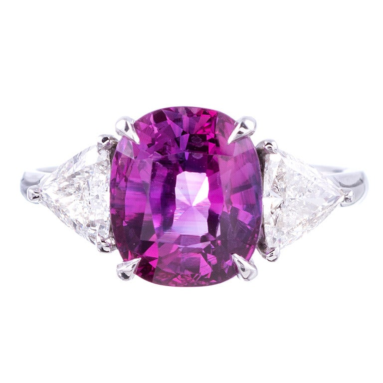 especially low heat pink sapphire and platinum ring