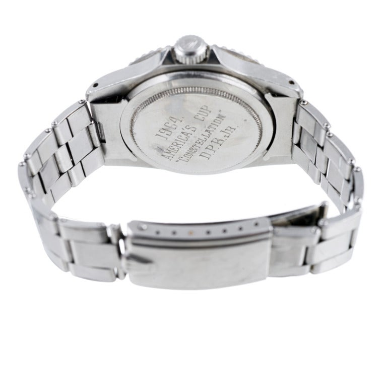 Rolex Stainless Steel Submariner Presented to the 1964 America's Cup Winner image 4