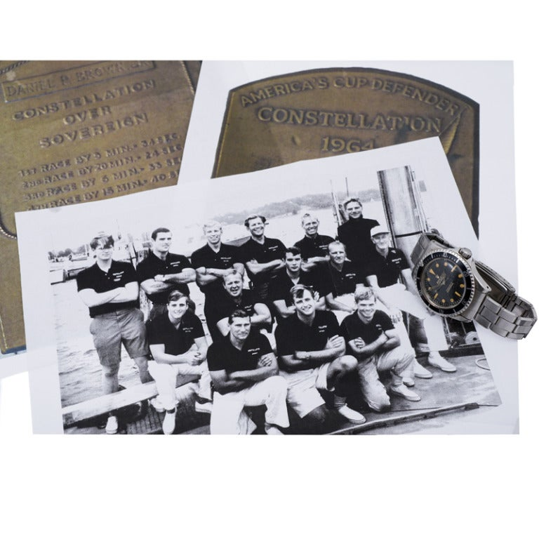 Rolex Stainless Steel Submariner Presented to the 1964 America's Cup Winner image 7