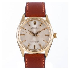 Rolex Yellow Gold Oyster Perpetual Wristwatch Ref 1005 circa 1960s
