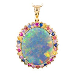 Magnificent 31.31 Carat Opal Pendant