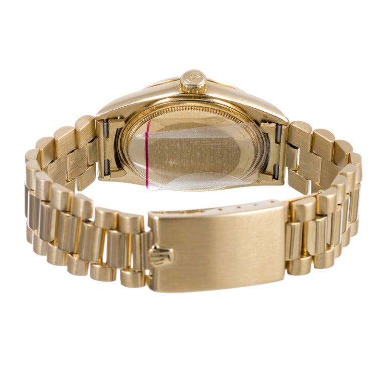 Rolex Yellow Gold Datejust Wristwatch Ref 1601 circa 1970s 4