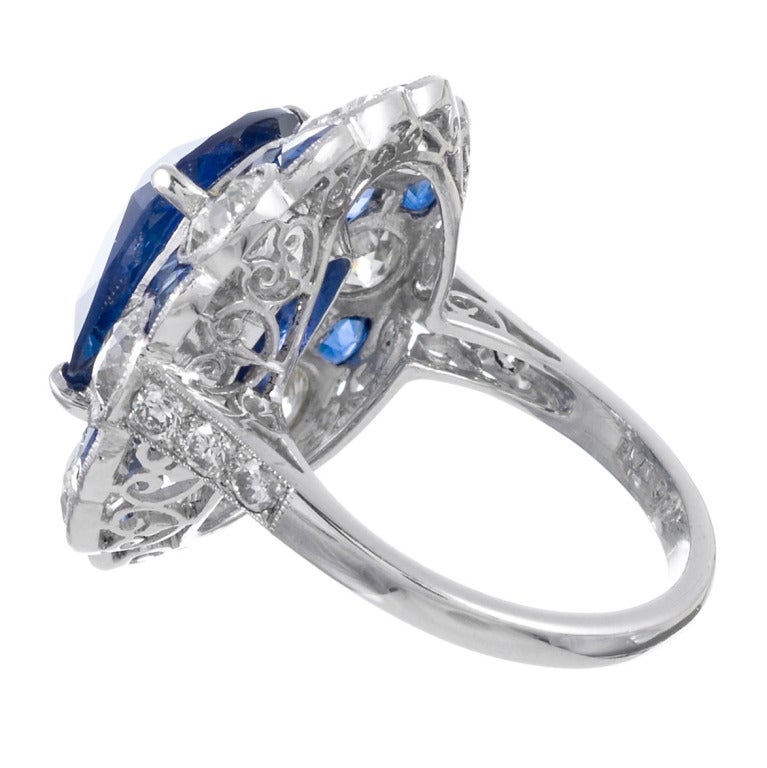 Stunning No Heat Ceylon Sapphire Ring In Excellent Condition For Sale In Carmel-by-the-Sea, CA