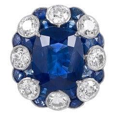 Stunning No Heat Ceylon Sapphire Ring