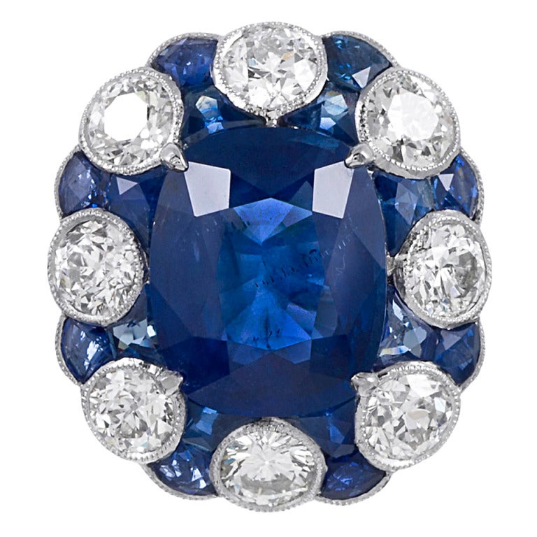 Stunning No Heat Ceylon Sapphire Ring For Sale