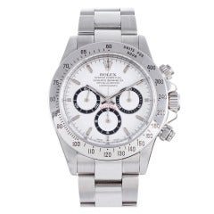 """Rolex Stainless Steel """"Last Zenith Movement"""" Daytona circa 2000 with Box and Papers"""