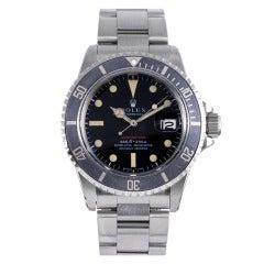"""Rolex Stainless Steel """"Red"""" Submariner Wristwatch Ref 1680 circa 1970s"""