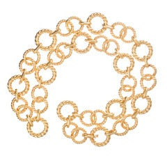 31 Inch Heavy Gold Link Belt or Necklace