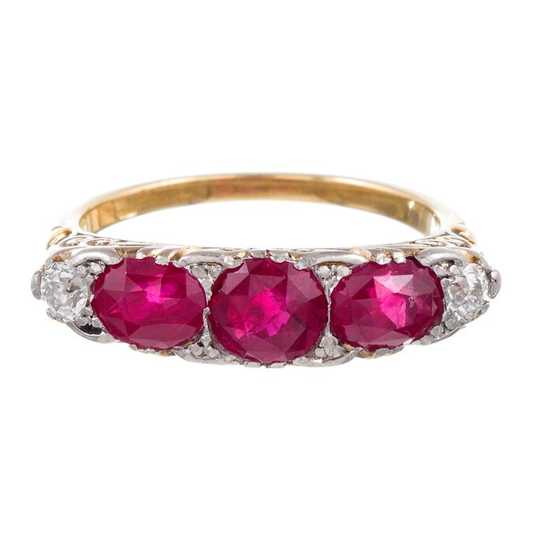 antique ruby carved ring at 1stdibs