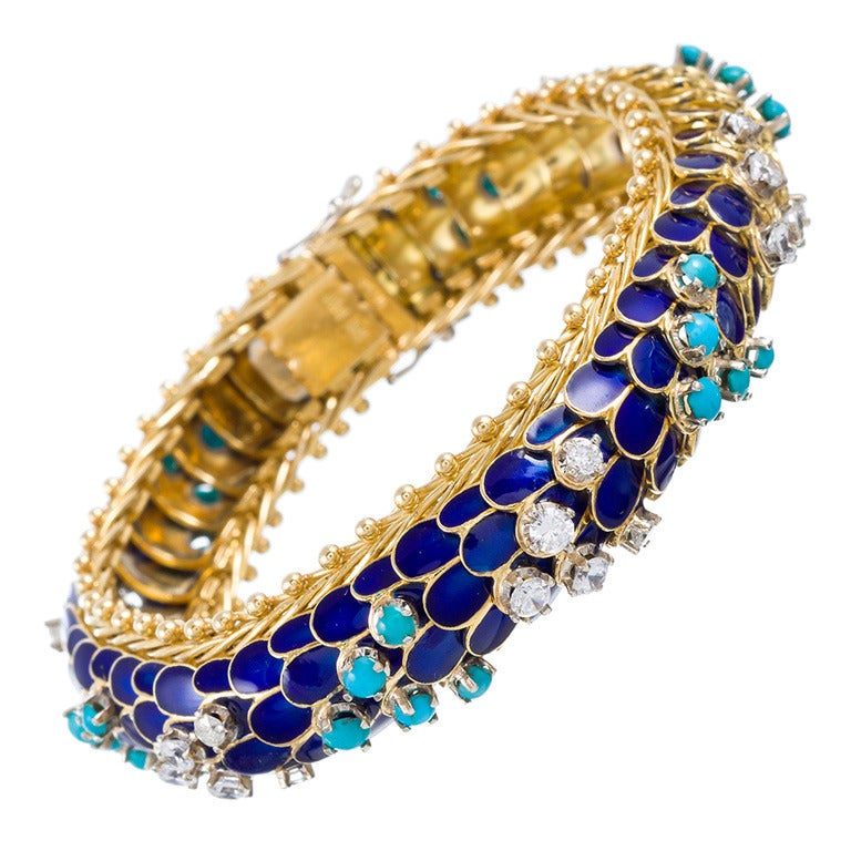 Toliro Enamel Diamond Bracelet 1