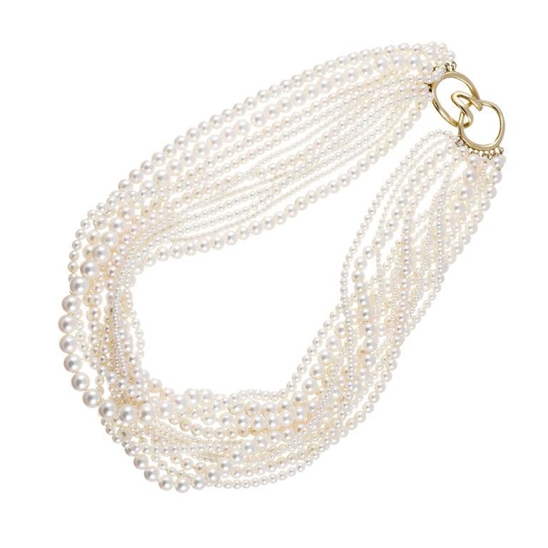 Tiffany & Co. Multi-Strand Pearl Necklace 2