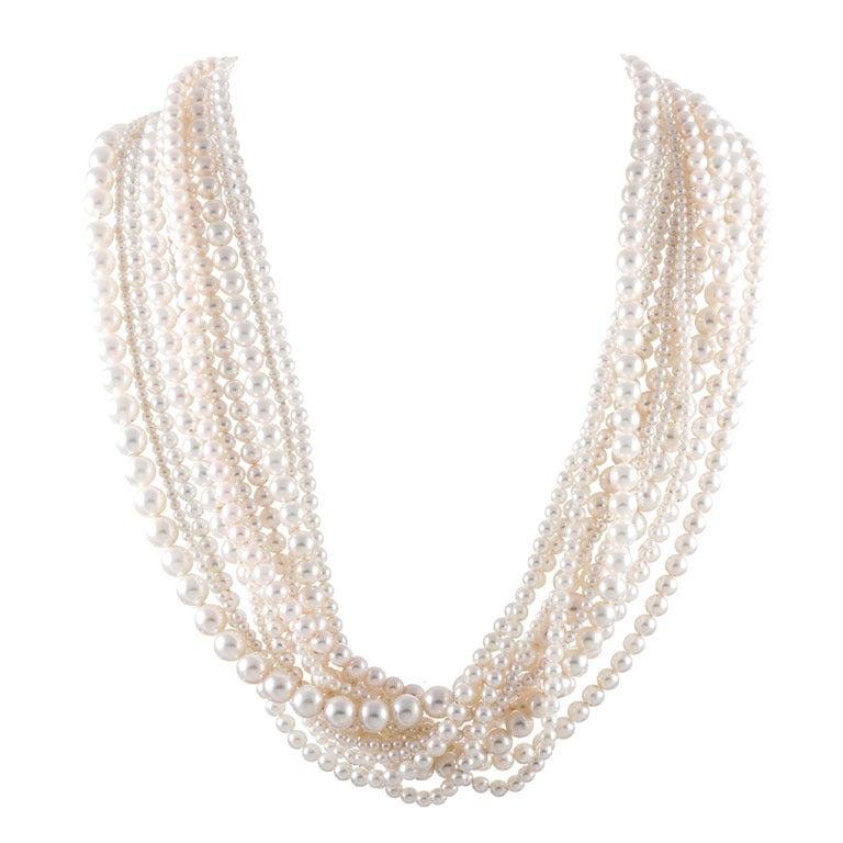 Tiffany & Co. Multi-Strand Pearl Necklace 1