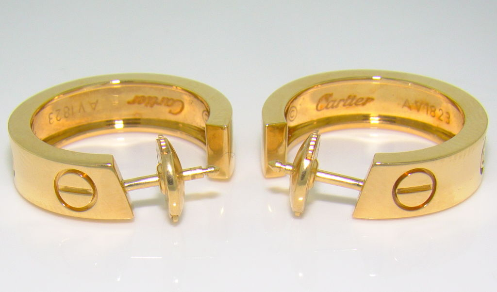 cartier love collection 18k yellow gold and diamond hoop