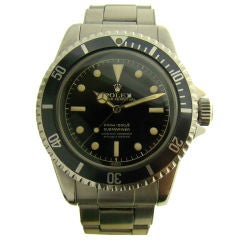 Ref #5512 Rare Early Stainless-Steel Submariner Gilt Dial