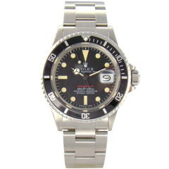 """Stainless Steel """"RED SUBMARINER"""" Ref. #1680 by Rolex"""