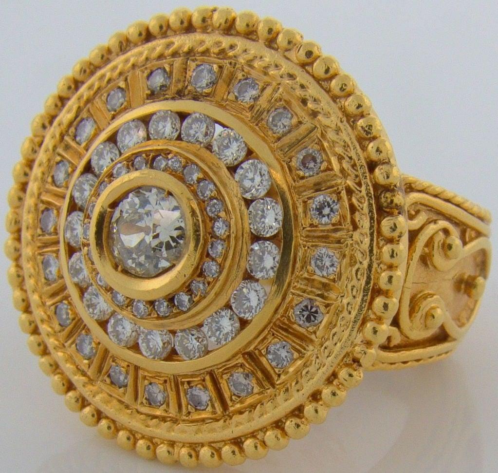 22 Karat Yellow Gold & Diamond Ring 2
