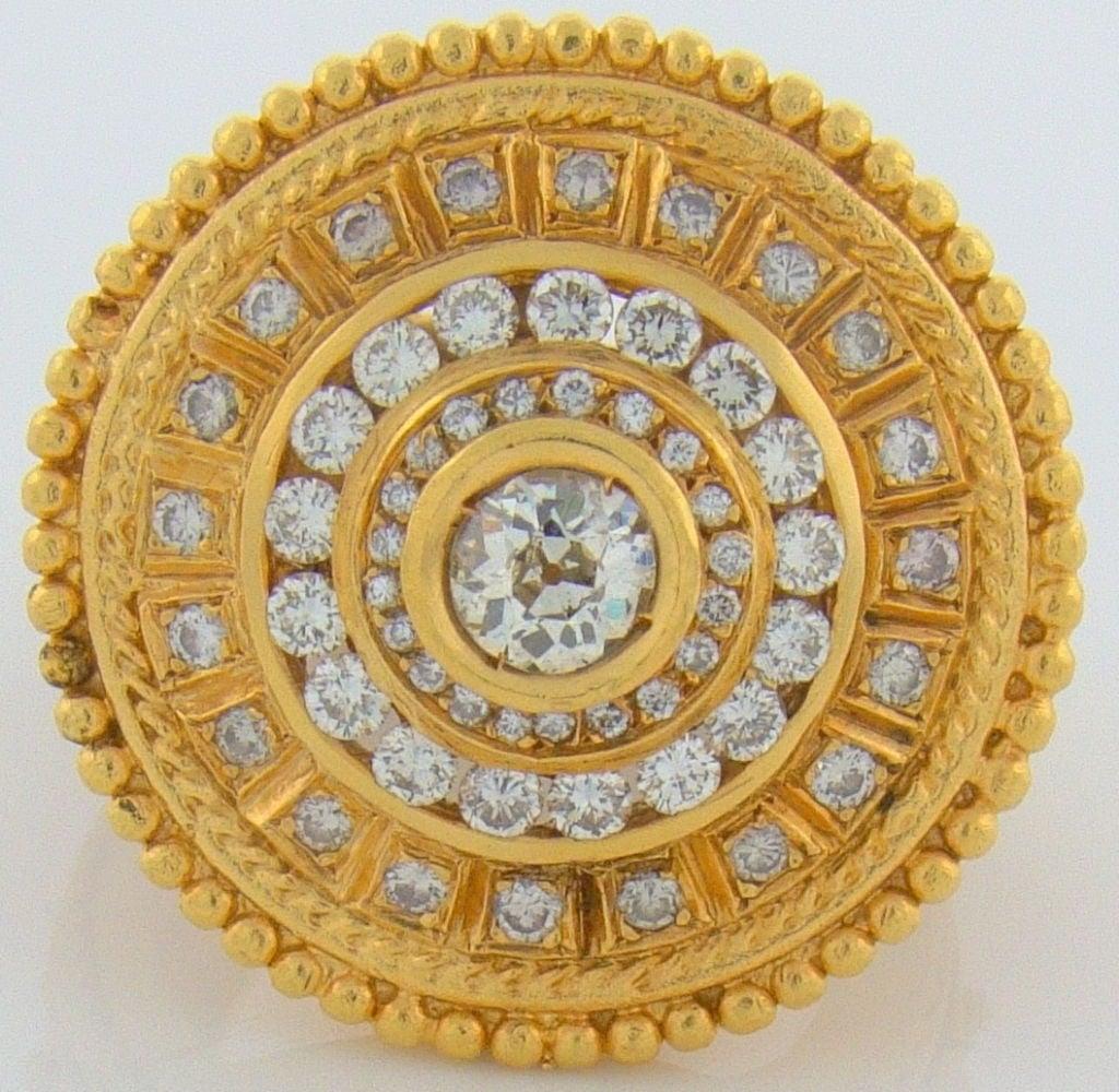 22 Karat Yellow Gold & Diamond Ring 3