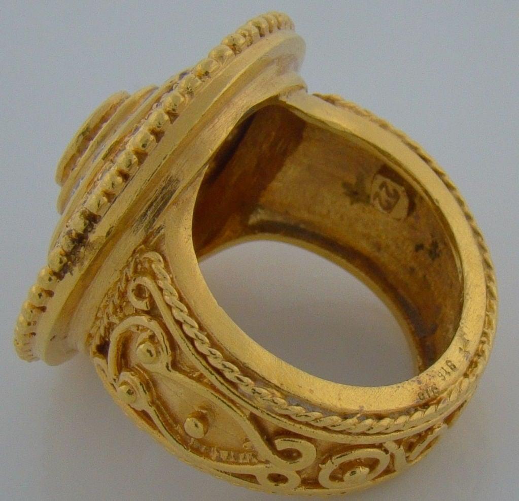 22 Karat Yellow Gold & Diamond Ring 4