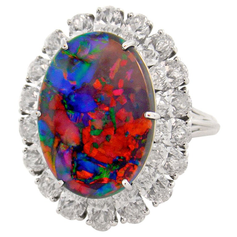 CARTIER Magnificent Black Opal Ring 1