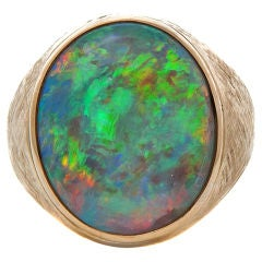 Large Opal & Yellow Gold Ring
