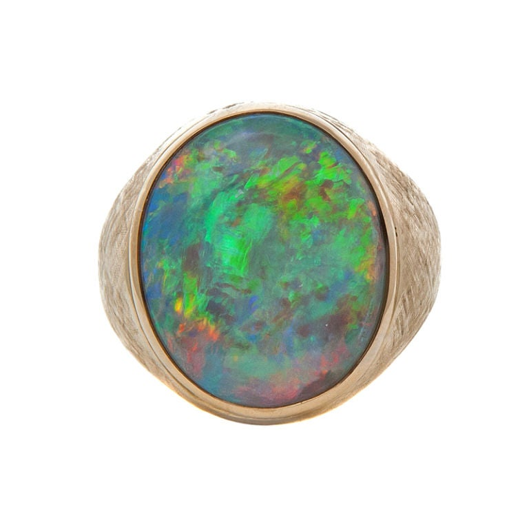 large opal and yellow gold ring at 1stdibs