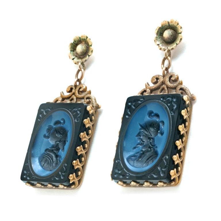 Victorian 14K Yellow Gold Earrings 2