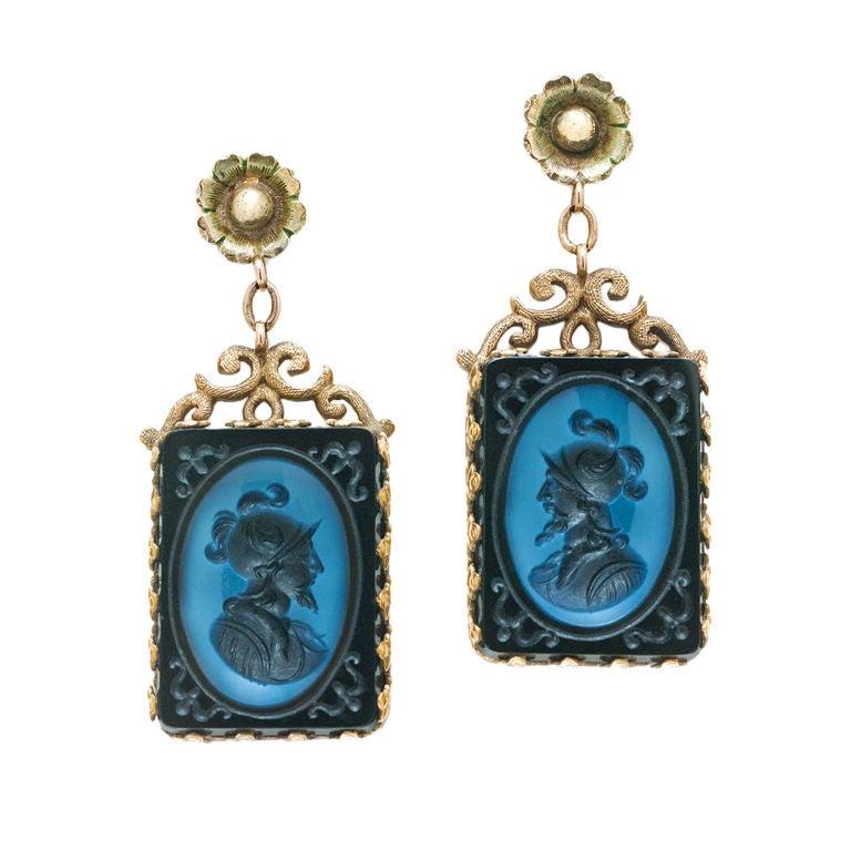 Victorian 14K Yellow Gold Earrings 1