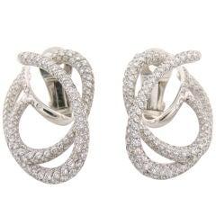 CHANEL Diamond White Gold Earrings