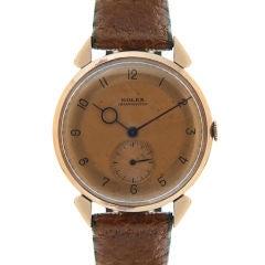 ROLEX 14K Rose Gold Rare Stylized Chronometer
