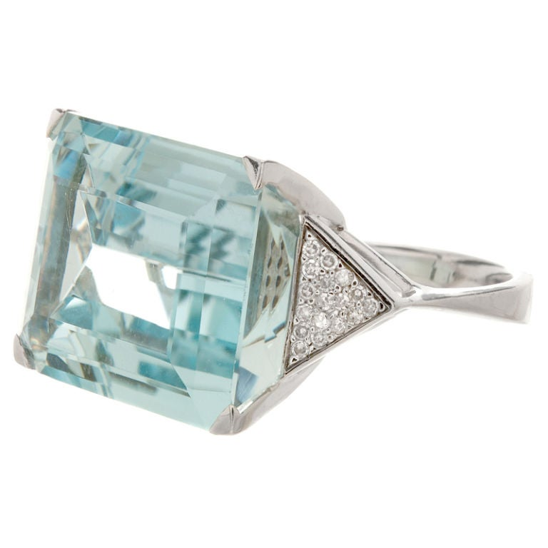 aquamarine and ring at 1stdibs