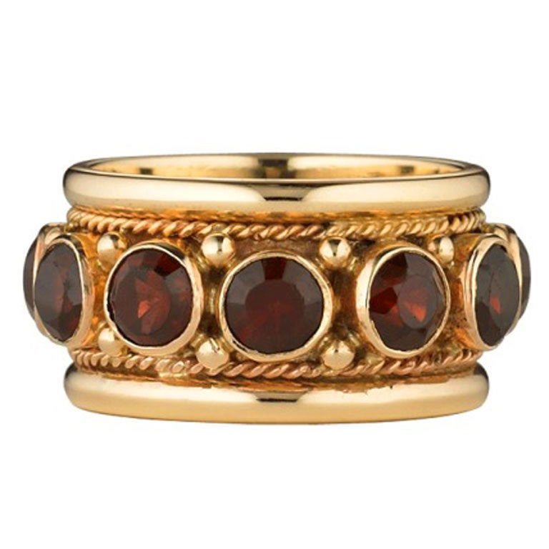 Garnet Gold Ring At 1stdibs
