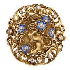 Art Nouveau Pin/Pendant