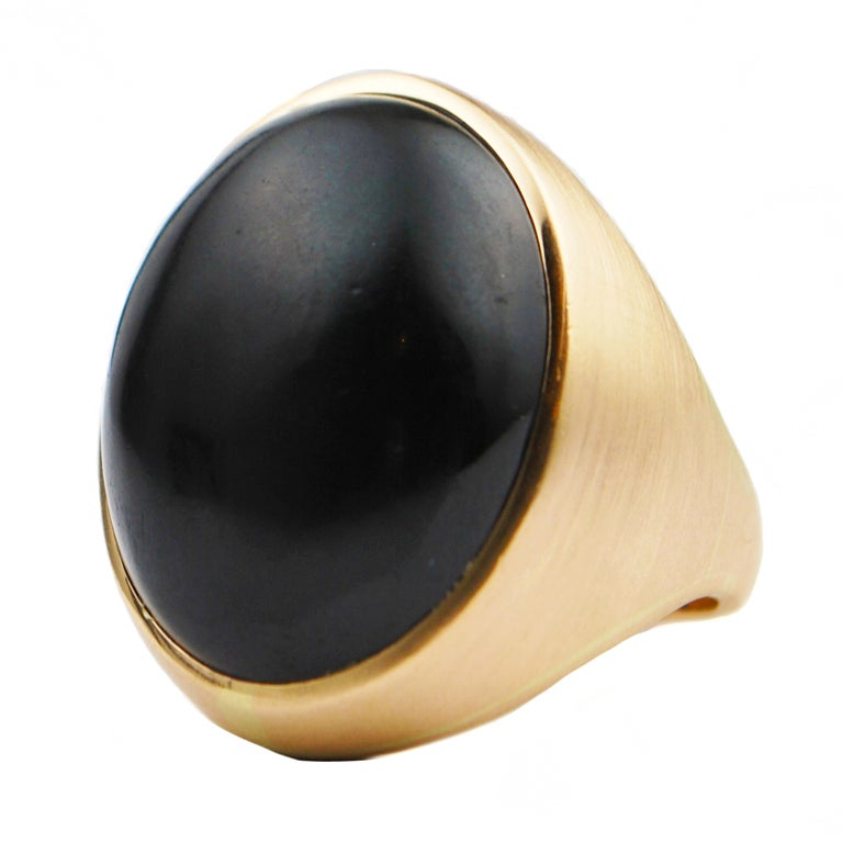 black jade and gold ring at 1stdibs