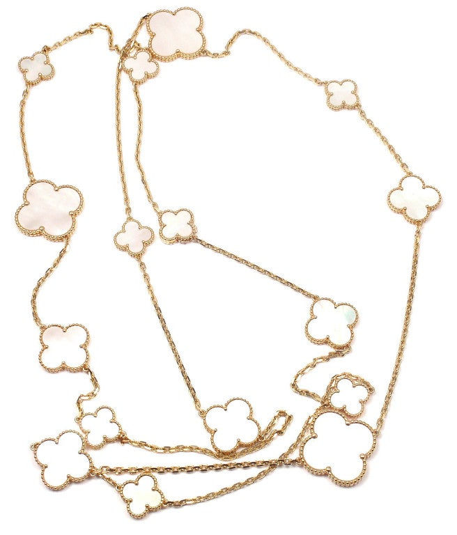 Van Cleef And Arpels Mother Of Pearl Necklace: VAN CLEEF And ARPELS Magic Alhambra Mother Of Pearl