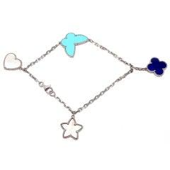 """VAN CLEEF & ARPELS """"Lucky Alhambra"""" White Gold Bracelet"""